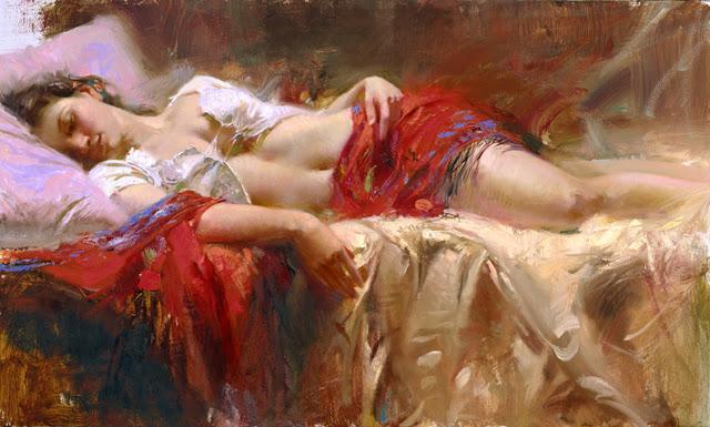 D.W.C. Sleeping Woman - Artist Pino Daeni