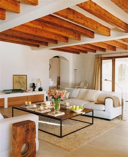 Gallart grupo el blog suelos y puertas de madera en - Vigas madera techo ...