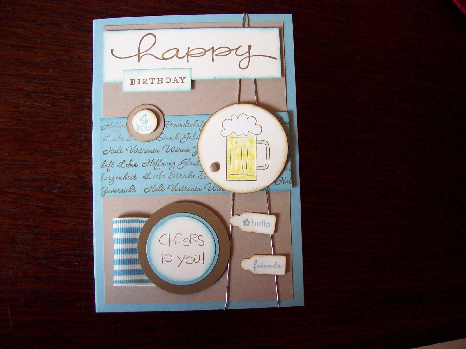 Kreativ am deich eine geburtstags karte f r einen jungen mann - Geburtstagskarte basteln mann ...