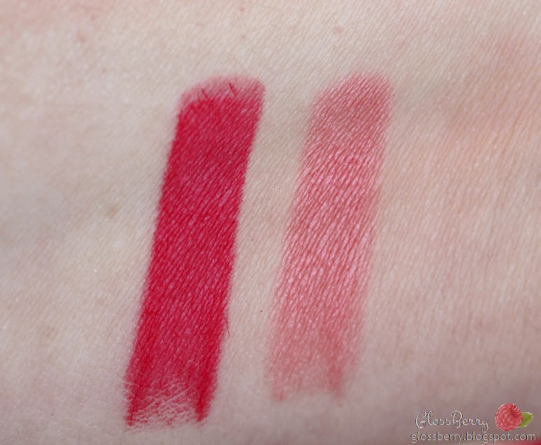 •Bourjois Rouge Edition Lipstick 12 Hours - Pamplemousse Frimousse #28, Entry VIP #35 review swatches סקירה שפתונים בורז'ואה 12 שעות בלוג איפור וטיפוח Lip swatches