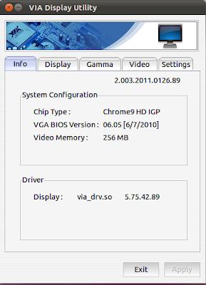 VIA Display Utility