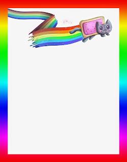Caratulas para cuadernos - borde de arcoiris