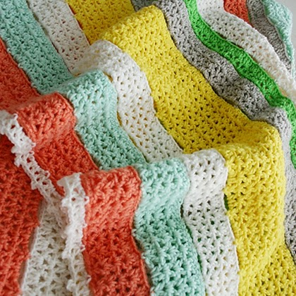 Citrus Stripe Blanket Free Pattern