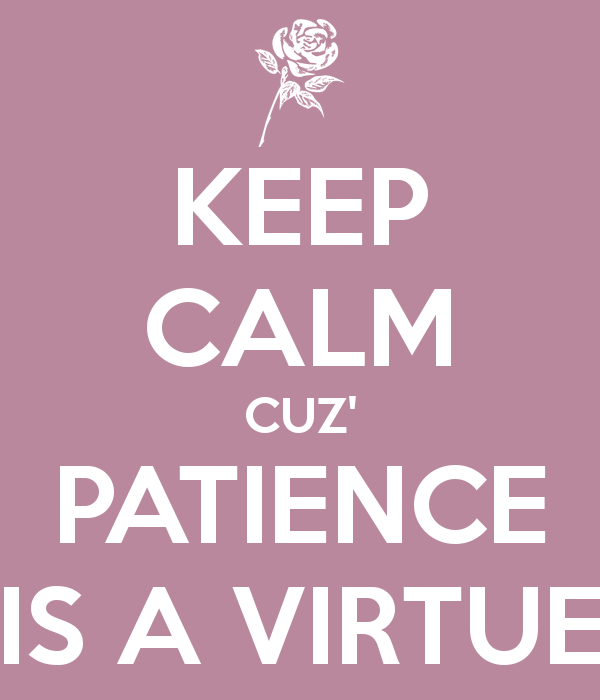 patience is a virtue At times patience is hard to have let these patience quotes give you thoughts to ponder and remind you that patience truly is a virtue.