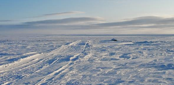Example of an Inuit Arctic trail. Credit Claudio Aporta