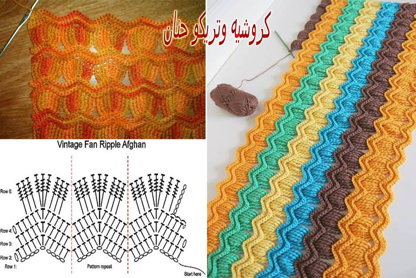 Asombroso Zig Zag Patrón De Crochet Componente - Manta de Tejer ...