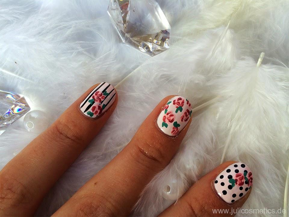 Einfaches Nageldesign Für kurze Nägel und für Anfänger  - nageldesign blumen selber malen