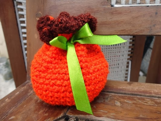 Pumpkin Drawstring Bag