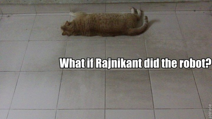What if Rajnikant did the Robot?