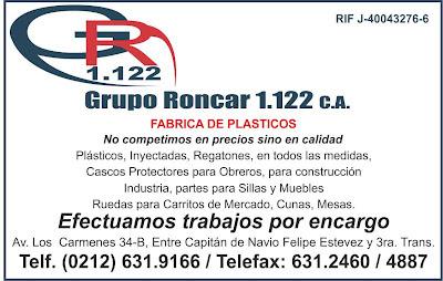 GRUPO RONCAR 1122, C.A. en Paginas Amarillas tu guia Comercial