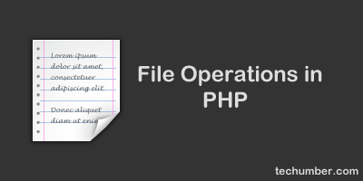 Basic File Operations Create,Write,Read,Append and Delete Operations In PHP