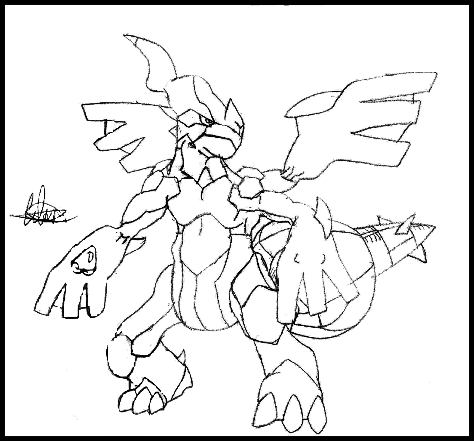 pokemon zekrom coloring pages - zekrom free colouring pages