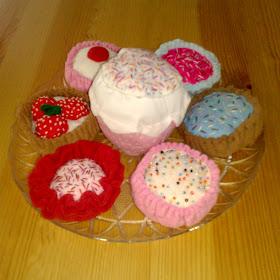 cupcake theme party fabric cupcakes