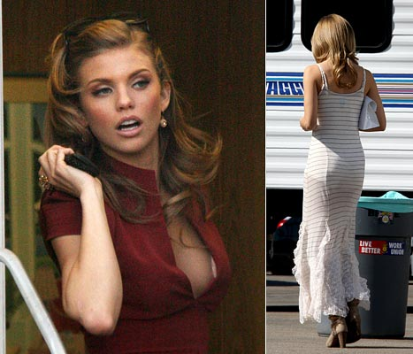 PICTURE BUGS: Annalynne Mccord Two Wardrobe Malfunctions