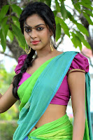 Amala Paul in Colorful Saree Purple Blouse Lovely Beauty