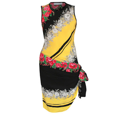 prabal gurung collection rose print sash dress