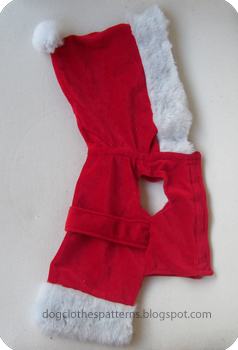 santa claus dog clothes patterns