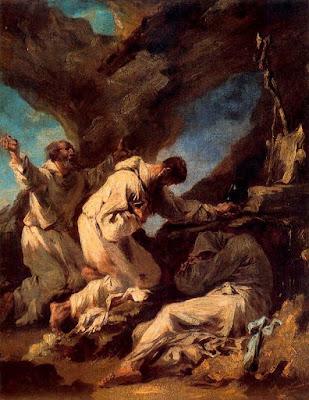 Monjos en una balma (Alessandro Magnasco 'Il Lissandrino')