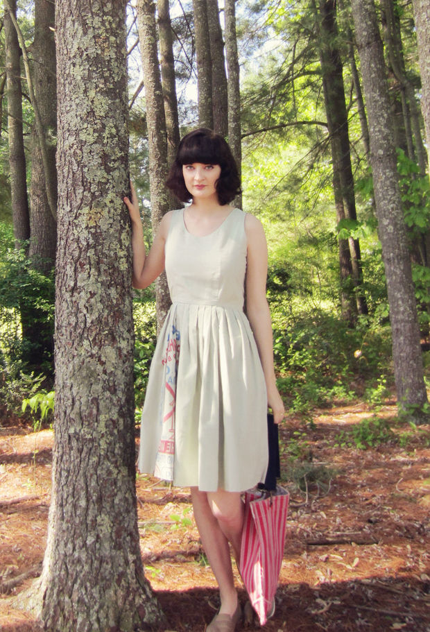 liz alig flour sack dress