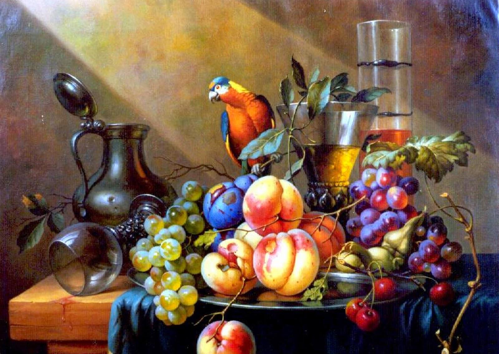 bodegones-de-duraznos-y-uvas