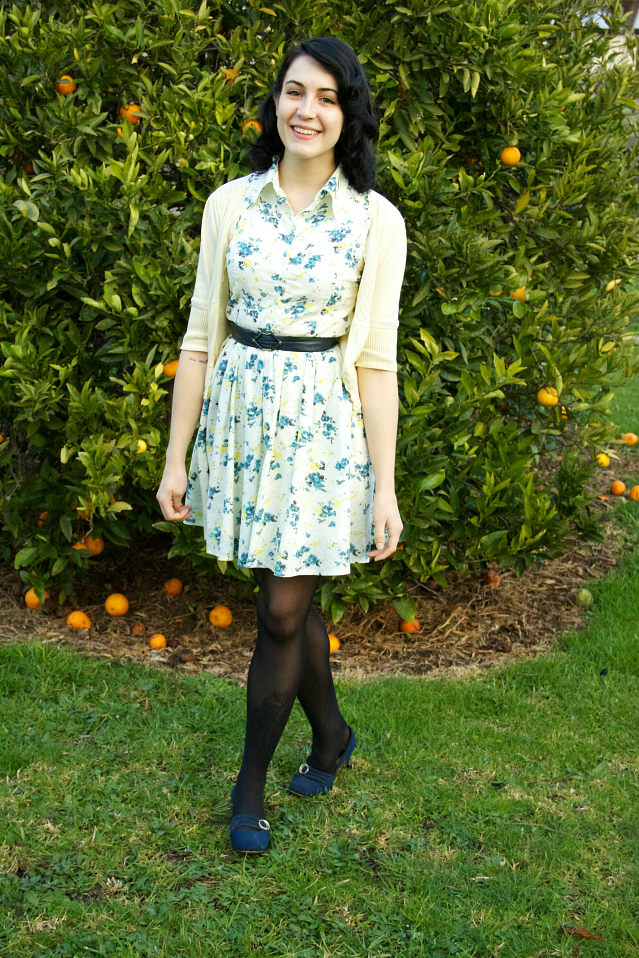 vintage revival floral dress