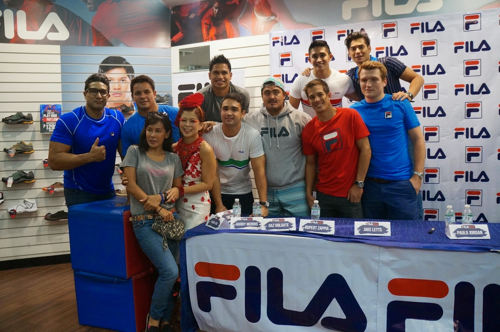 Filapinas  Fila Brand Endorsers Meet And Greet With Fans
