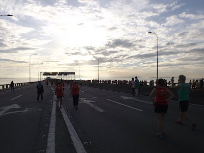 Reaching the bridge Penang Bridge Marathon 2015