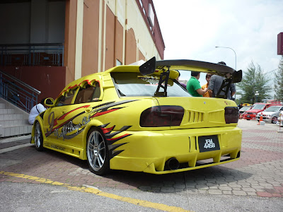 Modified Wira custom body kit