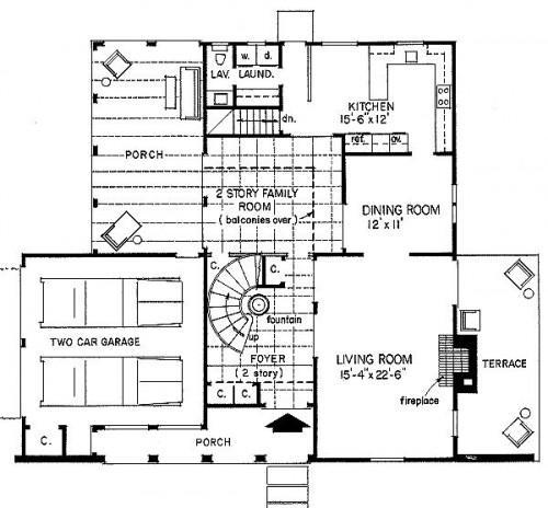 Planos de casas modelos y dise os de casas planos de - Planos de casas con patio interior ...
