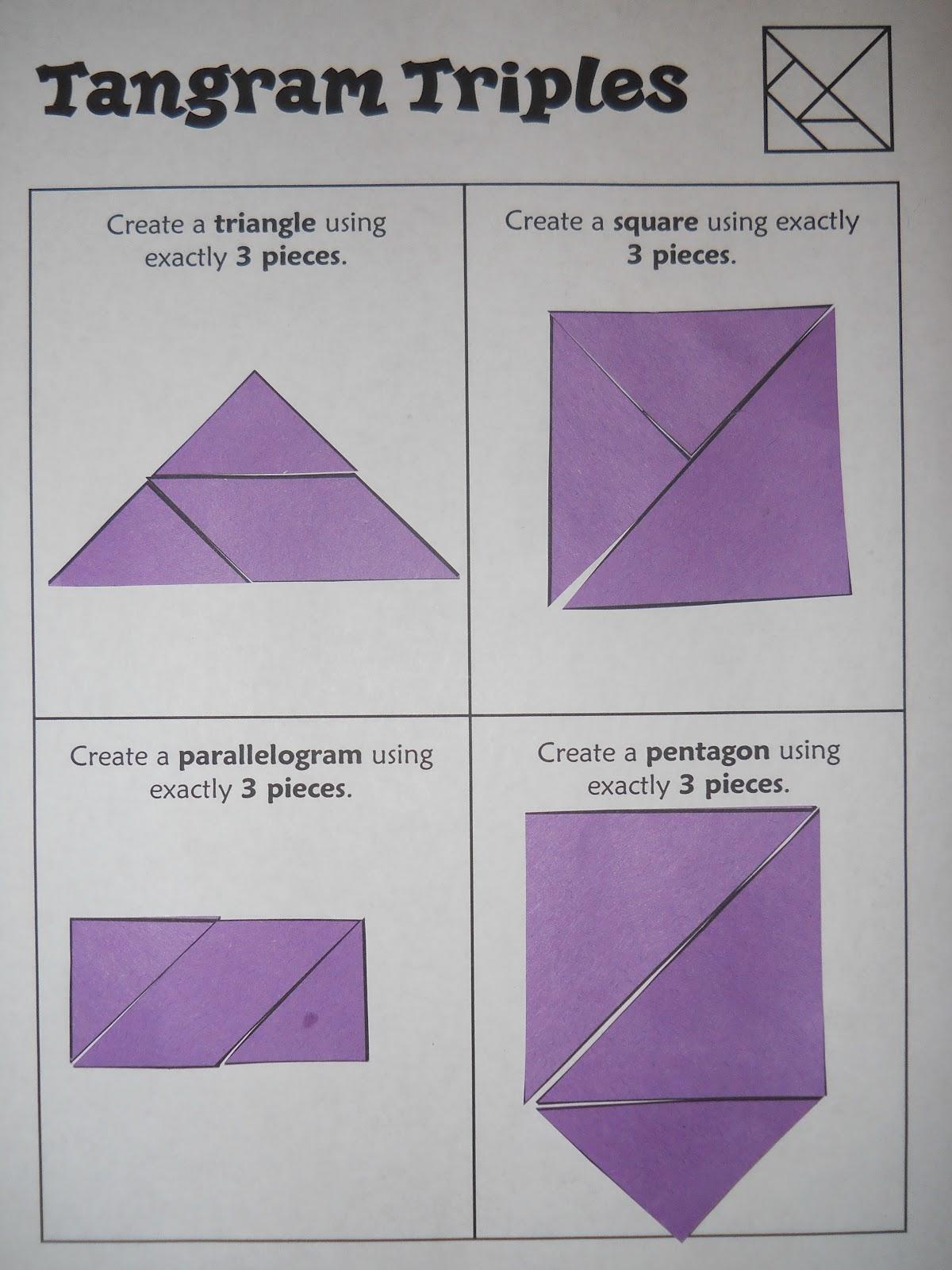 Mrs Ts First Grade Class Tangram Challenges – Tangram Worksheet