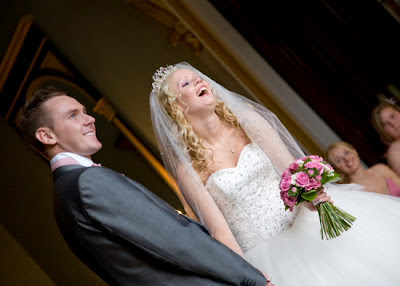 Laughter at a Wynyard Hall Wedding