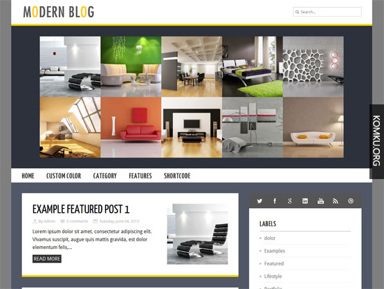 Modern blog Blogger template
