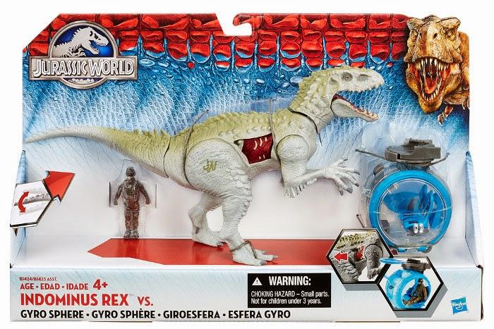 JUGUETES - JURASSIC WORLD  Indominus Rex vs Gyro Sphere | Giroesfera  Toys 2015 | Producto Oficial Película | Hasbro B1424  A partir de 4 años