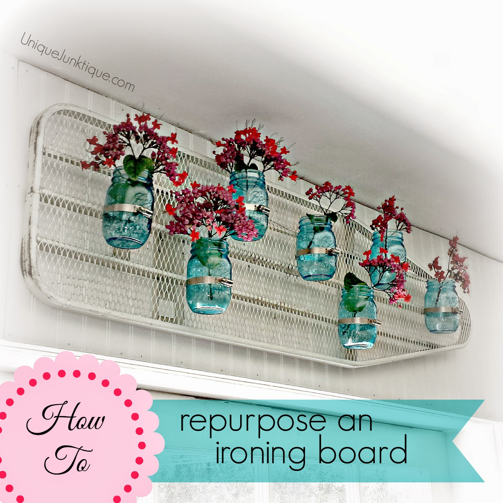 How to repurpose a vintage ironing board by Unique Junktique
