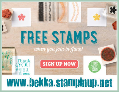 Free Stamps available in June at www.bekka.stampinup.net