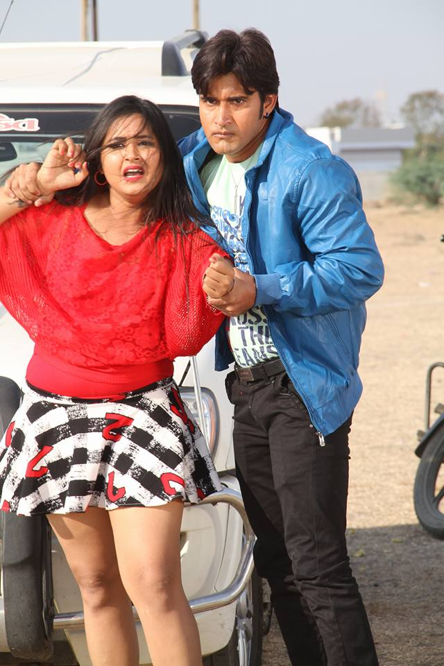 Ayaz Khan, Kajal Raghwani Dabang Aashiq Bhojpuri Movie Shooting stills, Dabang Aashiq Bhandar Bhojpuri Movie