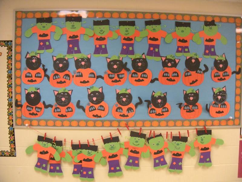 hallowen bulletin boards in school.