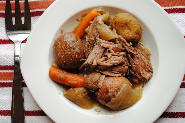 Tender Beer Soaked Crock Pot Roast from Neighborfoodblog.com