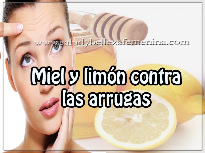 Mascaras faciales , receta de miel y limón contra las arrugas , cuidados del rostro ,