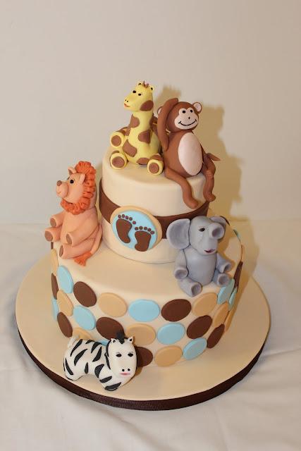 Baby Shower Zoo Cakes ~ Sweet stirrings zoo animal baby shower
