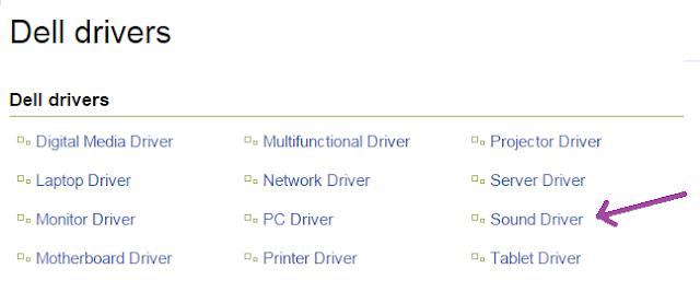 جميع تعريفات Dell