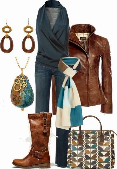 Jacket and handbag
