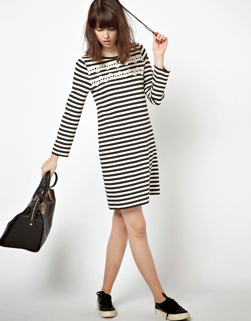 jaeger striped dress