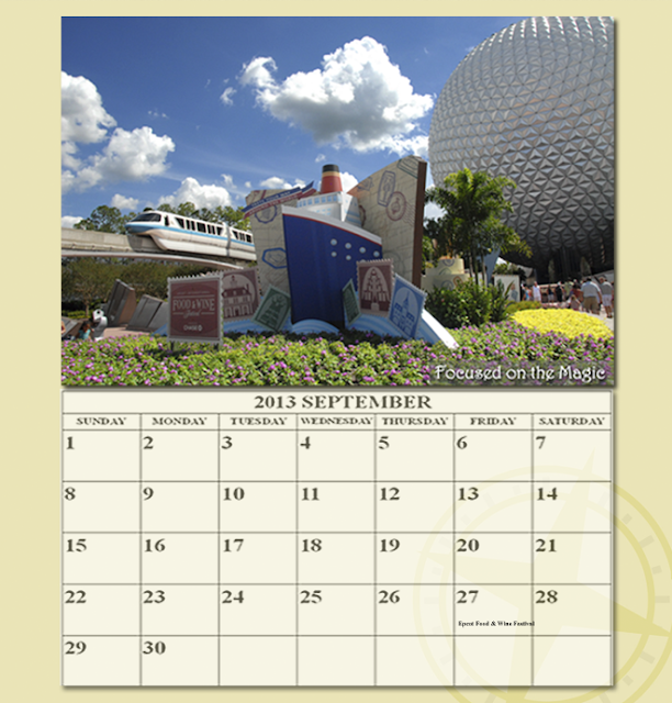 Disney Wordless Wednesday Food Wine Festival September Calendar
