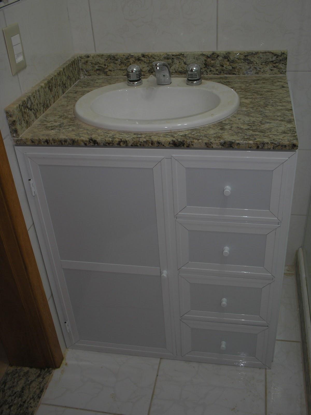 Design Aluminium: Gaveteiro de Pia de Banheiro #575245 1200 1600