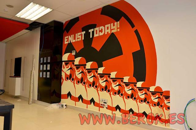Murales Star Wars Prodeca Barcelona