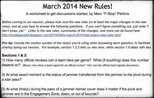 Screenshot of the new rules worksheet