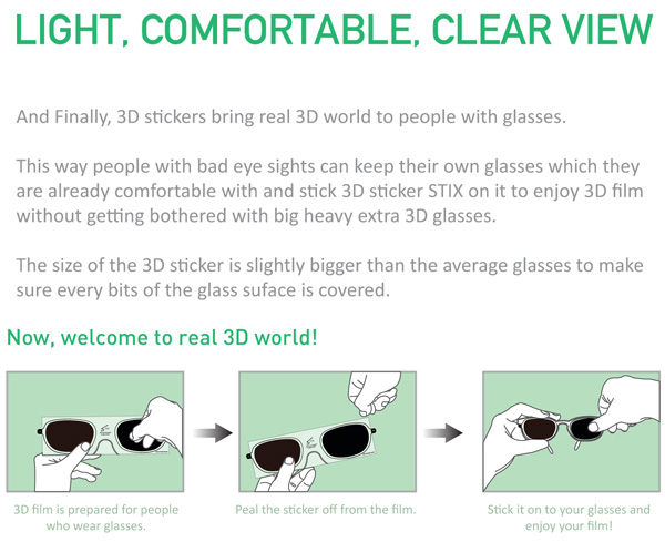 3D Sticker Glasses