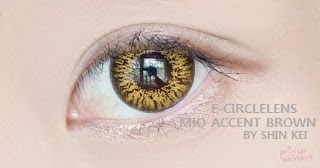 Mio Accent Brown Contacts at e-circlelens.com