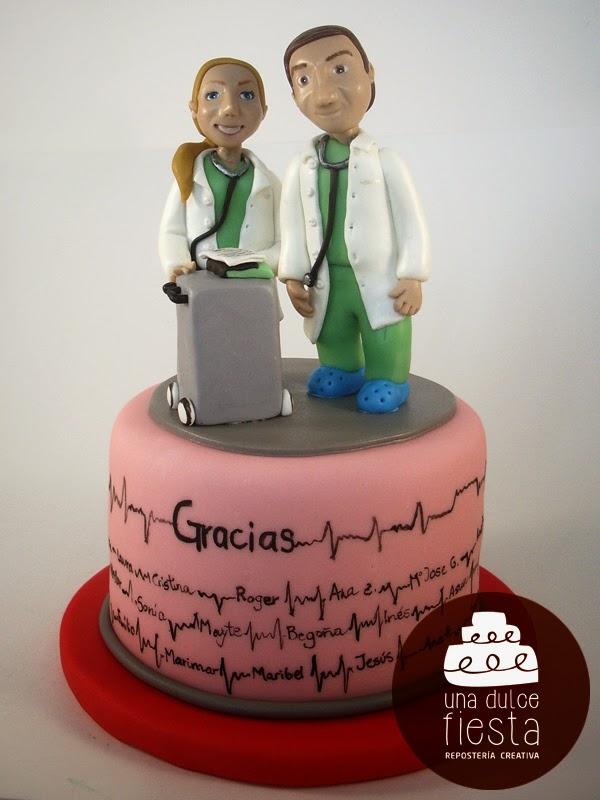 tarta fondant personalizada pamplona cardiologia